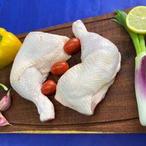 Dos pata y muslo de pollo